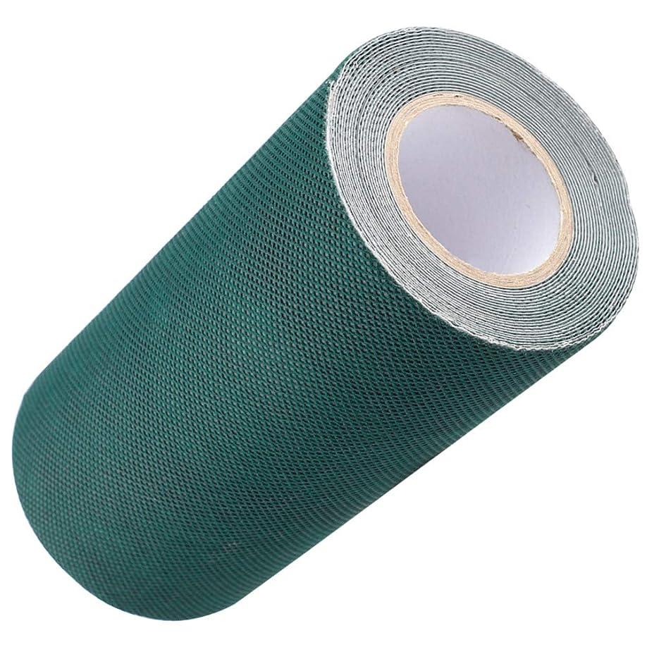 を必要としていますテレックスレシピDOMO 人工芝接着布 人工芝粘着テープ 芝スプライスベルト 15cm*5M グリーン