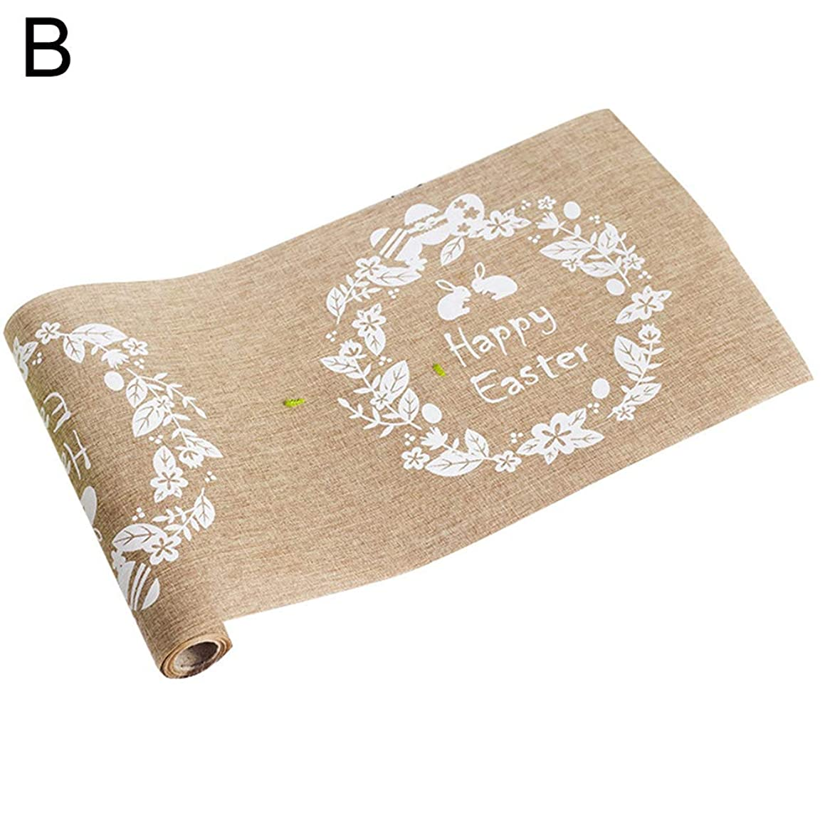 Table Runner Maserfaliw Nordic Easter Rabbit Eggs Printed Linen Cloth Table Runner Tablecloth Decoration - B, Hot Home Decorations, Easter And Other Holiday Gifts.