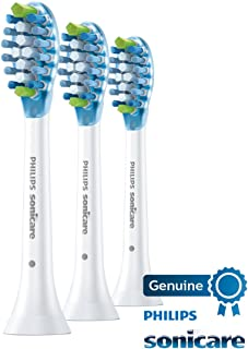 Genuine Philips Sonicare Adaptive Clean replacement toothbrush heads, HX9043/66, White 3-pk