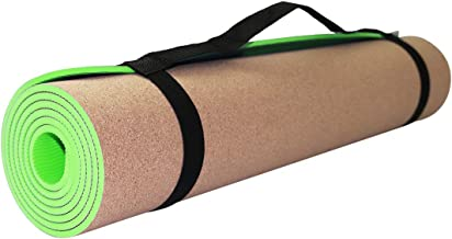 Yogamat kurk. Fitnessmat voor thuis antislip. Fitnessmat TPE met draagriem. Yoga oefeningen en andere sporten. Sporttoeste...