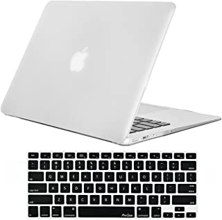 MacBook Air 13 Inch Case ProCase Rubber Coated Hard Shell Case for MacBook Air 13 inch (Model A1369 & A1466) with Keyboard Skin Cover ?Frost Clear
