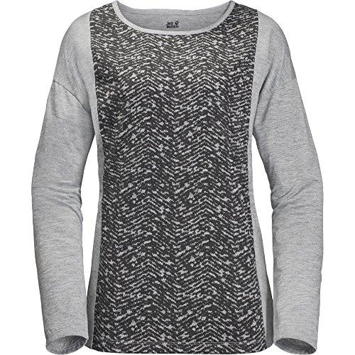Jack Wolfskin Moro Panel T-Shirt à Manches Longues pour Femme M Gris