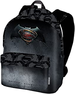 Batman V. Superman Justice Mochila Tipo Casual, 42 cm, 21 litros, Negro