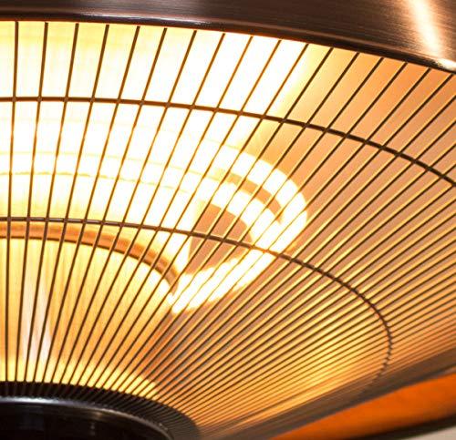 Firefly 1.500 Watt Infrarot-Heizstrahler (Halogen) Terrassenheizung, Deckenmontage, kupferfarben - 5