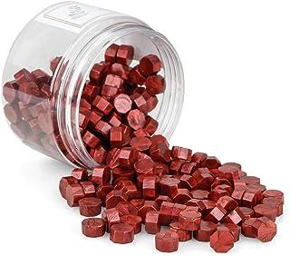 Gobesty Sceau Cire, 200 Pièces Cire d'Étanchéité Octogonale Bâtons de Perles, Perles de Cire à Cacheter Cire Sceau pour Le...