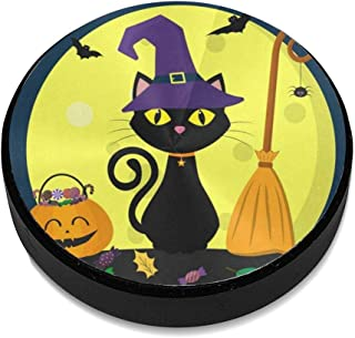 Magnetic Phone Car Mount Witch Hat Cat Full Moon Broom Pumpkin Leaves Phone Holder Strong Magnet Stick On Dashboard for Car Anywhere
