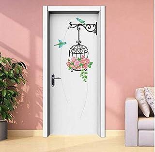 Autocollants de porte Stickersoiseaux et cages à oiseaux stickers muraux salon chambre pour décoration de fond de bord ...