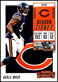 2018 Contenders NFL Season Ticket (Base) #24 Khalil Mack Chicago Bears Official Football Trading Card made by Panini