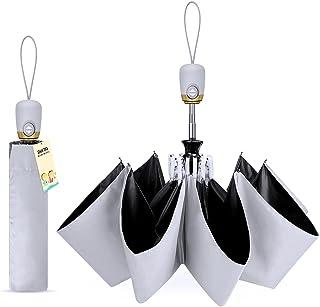 【完全遮光 UPF50+】 日傘 uvカット99% 紫外線遮蔽 遮熱 折りたたみ 傘 大きい レディース メンズ ワンタッチ自動開閉 おりたたみ傘 熱中症対策 晴雨兼用 折り畳み傘 耐風 撥水 収納ケース付き DeliToo