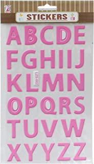 apple LZS-002 Letters Stickers - Pink