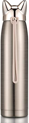 Cute Cat Thermoses Stainless Steel Water Bottle Insulated Thermal Travel Mug Cute Vacuum Thermos for Women and Kids