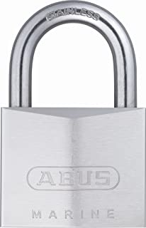 ABUS 75/50 All Weather Chrome Plated Brass Keyed Different Padlock - Stainless Steel Shackle