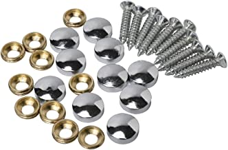 10PCS Mirror Screws Cap 10mm Srew Cover Cap Cover Nails Fasteners Silvery Color,Mirror Screws for Decorative Mirror, Sign/...