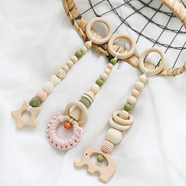 Marr/ón lets make 20mm 50pc Cuentas de Ganchillo de Madera Accesorios de Pulsera de Collar de Dentici/ón DIY para Hacer Juguetes de Mordedor para Beb/és
