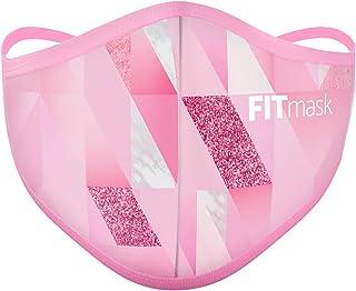 FITmask Mascarilla Pro Reutilizable Lavable Certificada Tejido Hidrófugo Made in Spain Pro Pink Diamond - Adulto Cabecera - M
