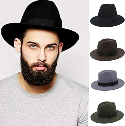2740ce9b0a Floppy Felt Trilby Felt Fedora Hat for Gentleman Top Cloche Panama Hat with  Wide Brim Dad