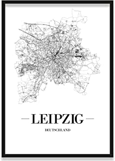 JUNIWORDS Stadtposter, Leipzig, Wähle eine Größe, 40 x 60