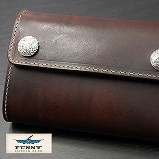 [FUNNY] ファニー 財布 メンズ 三つ折り ウォレット ミディアムウォレット オリジナル?ビルフォード グラブ ビンテージフィニッシュ ブラウン