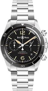 Men's Bell & Ross Vintage Steel 41mm Watch - Ref: BRV294-HER-ST/SST