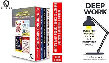 World's Most Popular Books to Achieve Success and Build a Fortune (Set of 4 Books)+Deep Work: Rules for Focused Success in...
