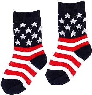 Perfk ユニセックス アメリカ国旗デザイン ソックス
