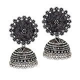 Preyans From Jaipur Mart Jhumki Earrings for Women (Silver)(GSE247SLV)
