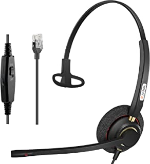 Cisco Headset with Noise Canceling Microphone Adjustable Volume Mute Switch ONLY for Cisco IP Phones: 6941, 7841, 7861, 7941, 7942, 7945, 7960, 7961, 7962, 7965, 8845, 8945,M12 M22 etc