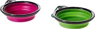 Mumoo Bear 2pcs/set Portable Collapsible Silicone Pet Dog Food Water Travel Bowl