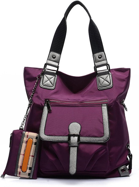 Dannyrober Wome Nylon Shoulder Bag Top Hand Bag Tote Hobe Cloth Bag