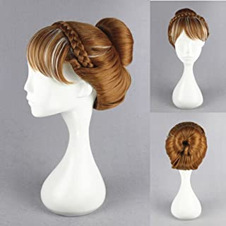 Xcoser Princess Anna Princess Flaxen Hair Style for Cospaly Accessories