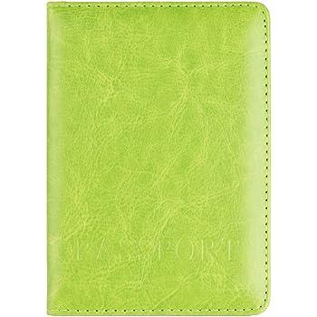 JESPER Passport Holder Protector Wallet Business Card Soft Passport Cover Leather Brown