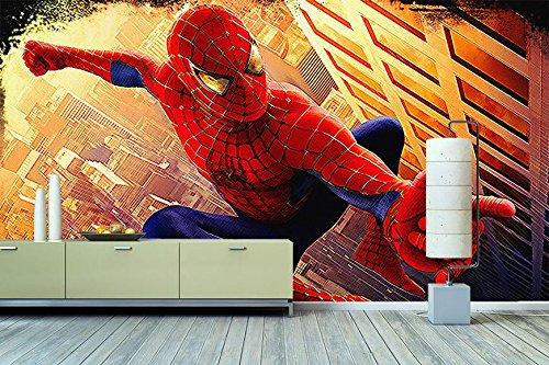 'WandbilderXXL® Papier peint photo non-tissé Motif Spiderman 240x 160cm–peint en 6différentes tailles pour le salon ou le bureau–– QUALITÉ DE QUALITÉ photo mural XXL