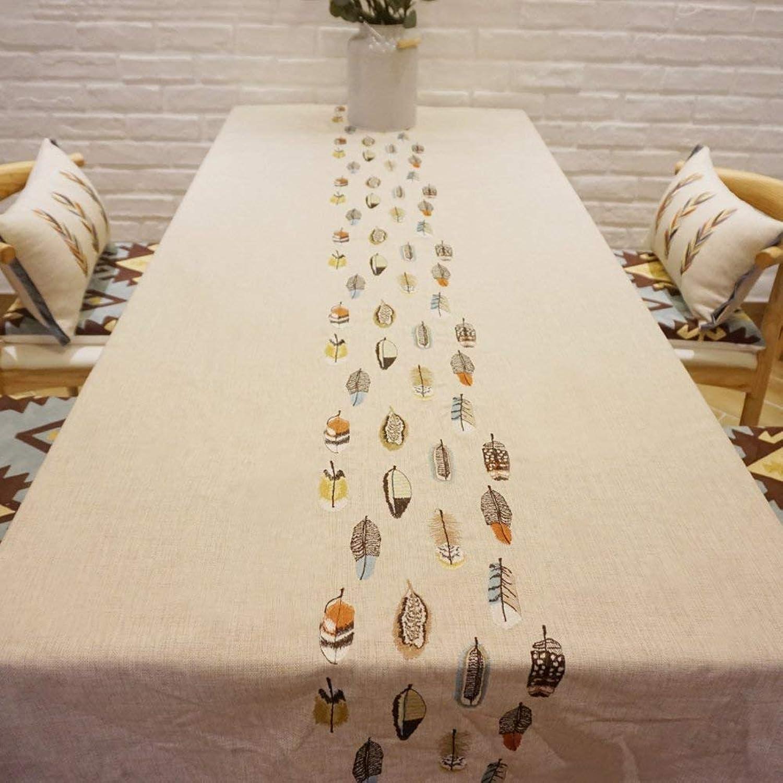 muchas concesiones Rectángulo manteles impresión bordado lino mantel té mesa pao tabla tabla tabla tapa cubierta creativa Casa Hotel decoración de la tabla,165x110cm  comprar nuevo barato