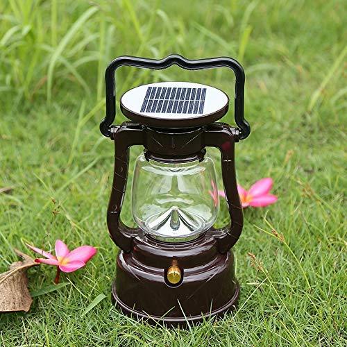SEESEE.U Multifuncional Súper Brillante Linterna LED Luz de Pilar Solar Camping al Aire Libre Camping Luz de Emergencia Tienda de campaña Lámpara de Lectura Lectura/Camping Carga Multiusos