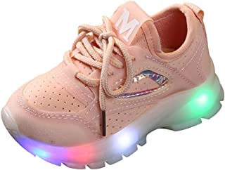 Sameno LED Baby Shoes 1-6 T Light Up Luminous Walking Shoes Soft Sole Sneakers Gifts for Boys Girls Winter Fall