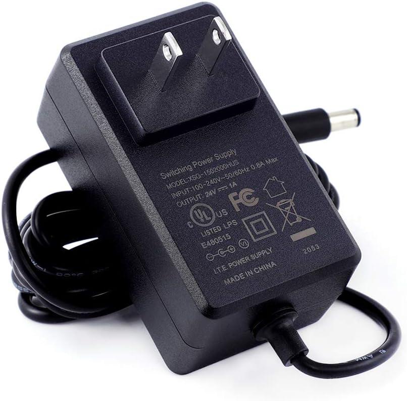 [UL Listed] MIXGOO 24V 1A Power Supply Charger (Input AC 100V-240V, Output DC 24 Volt 1 Amp 24 Watt) Adapter Switching Transformer Converter DC 5.5mm x 2.1mm / 5.5mm x 2.5mm Universal