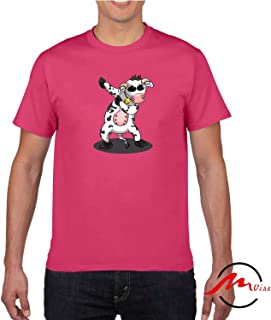 ZMvise Dabing Milk Cow Pattern Novelty Cotton Tee Unisex Adult Youth Tshirt Quote T-Shirt