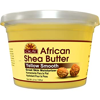 Shea Butter Yellow Smooth All Natural,100% Pure Unrefined Daily Skin Moisturizer For Face & Body Softens Tough Skin Adds Shine&Luster To Hair Alleviates Scalp Dryness 13oz
