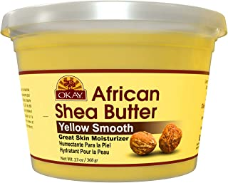 Okay Shea Butter Yellow Smooth All Natural,100% Pure Unrefined Daily Skin Moisturizer For Face & Body Softe...