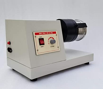 Yantra Laboratory Ball Mill 2 kg Motor Driven Heavy Duty with 10 Big Stainless Steel Balls (15 mm) and 35 Small Stainless Steel Balls (8 mm)