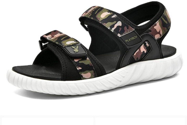 CHENGXIAOXUAN Men's Sandals Men's Sports Casual Beach shoes Summer Trend Breathable Camouflage Style Men's Sandals Flat Sandals