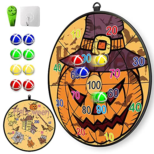 Lbsel Gift for Kids,Sports Toy Dart Board Set 8 Sticky Balls with 2 Hook,Safe & Classic Toy Gift for Boys Girls Ages 3 Year Old and Up(33.5cm