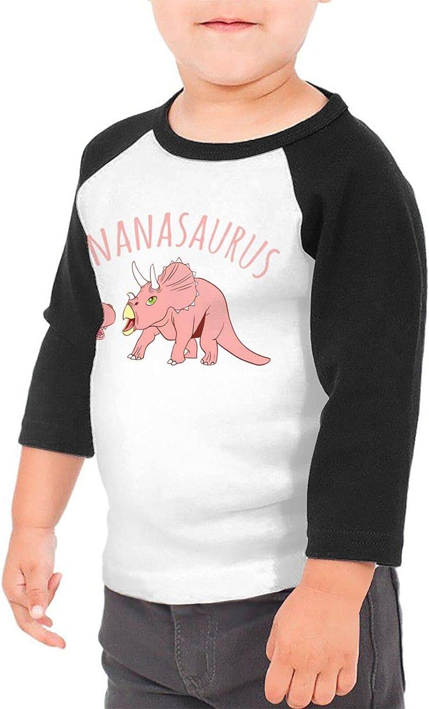 Retro Dinosaur Nanasaurus T-Shirts Novelty for Youth Tees with Cool Designs