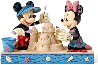 """Enesco Disney Traditions by Jim Shore Seaside Mickey and Minnie Figurine, 5.5"""""""