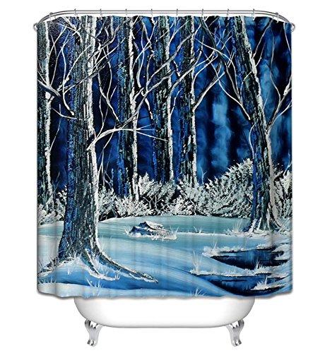 LAundNA Hand gezeichnetes Art-Polyester-Gewebe-Badezimmer-Duschvorhang-Ausgangsdekoration Wasserdicht & Schimmel-bestŠndig , 2 , 180*180cm