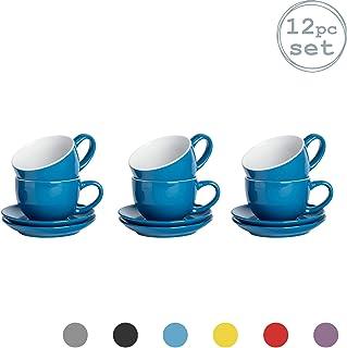 Argon Tableware 12 Piezas de Color Cappuccino y platillo Set
