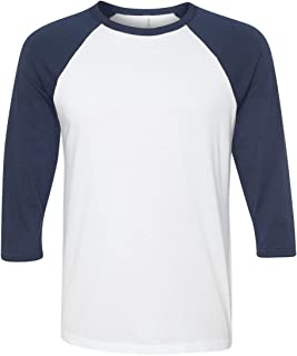 Bella Canvas Unisex Jersey 3/4 Sleeve Baseball Tee