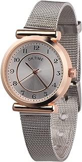 Triskye Womens Analog Quartz Watches Business Casual Classic Luxury Retro Design Webbing Belt Alloy Strap Band Round Wrist Watch Ladies Wristwatch Bracelet for Teen Girls