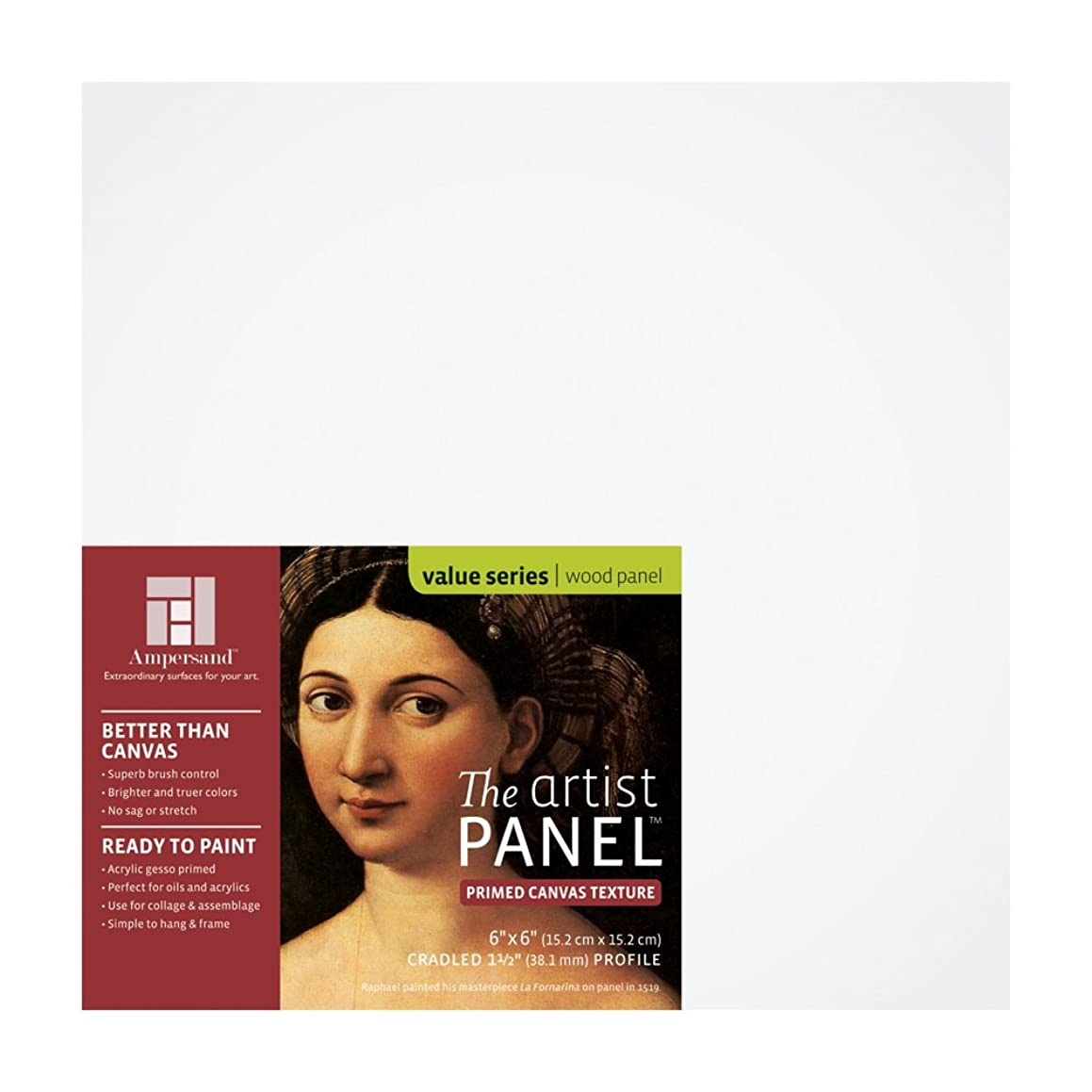 Value Canvas Texture Wood Painting Panel by Ampersand 1-1/2