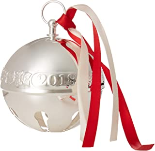 Wallace 2018 Sleigh Bell Silver-Plated Christmas Holiday Ornament, 48th Edition,